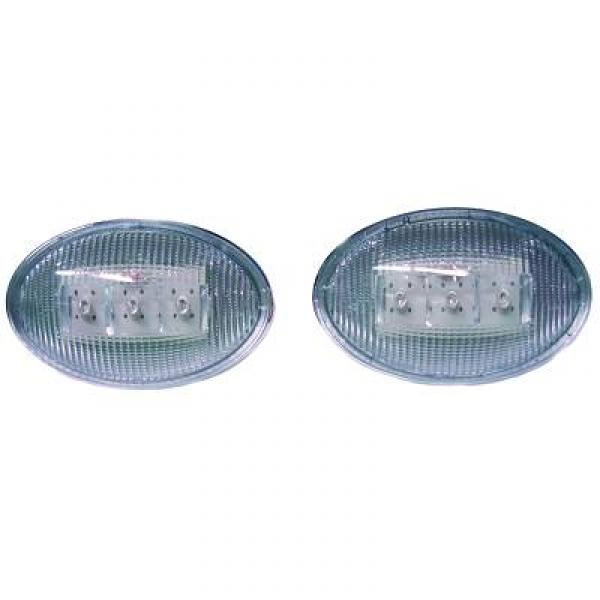SET INTERMITENTES DE DISEÑO  CORSA, 93->> LED; CRISTAL CLARO/ CR